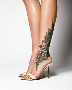Unique dragon tattoo - Not the ordinary dragon that you see in every tattoo. The dragon looks more like an old human face.