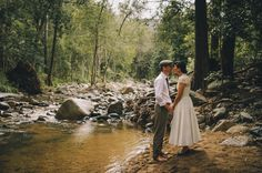 Such a gorgeous picture, and looks like the creek at the property were having the wedding.