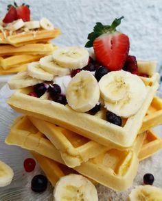 Healthy Recipes, Healthy Food, Diet, Breakfast, Waffles, Healthy Foods, Morning Coffee, Healthy Eating Recipes, Healthy Eating