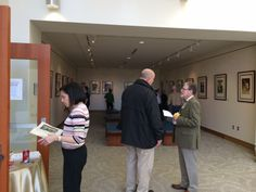 "Reception following Dr. Laird's lecture, ""Poignant Humorists: Mark Twain and Norman Rockwell"" in the Gallery of the Health Sciences Library #CUHSLibrary #CUAnschutz #CUDenver"