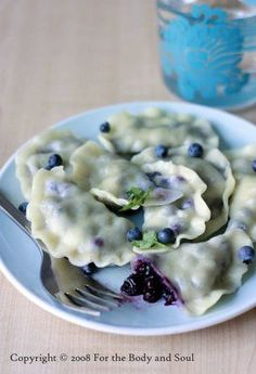 blueberry perogies! With a little sugar sprinkled on top these are surprisingly delicious (the kids will agree, because who doesn't love a little extra sugar?!)