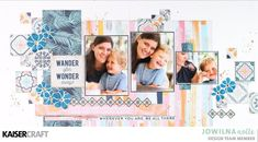 Kaisercraft January 2018 Blog Challenge!  'Wander Often' Inspirational Double Layout by Jowilna Nolte DT member for Kaisercraft Official Blog. Jowilna has chosen to feature the Jan 2018 'Havana Nights' collection on her Double Layout. See and learn more about this months challenge at kaisercraft.com.au - Wendy Schultz - Kaisercraft Projects.