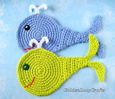 This crochet Whale pattern is a new addition to my series of Sea Motifs. You can make Whale Applique or Whale Coaster by using this pattern. This crochet Whale Applique would be perfect for embellishment of a baby blanket. Crochet Whale, Crochet Fish, Love Crochet, Crochet Gifts, Crochet Animals, Crochet Baby, Appliques Au Crochet, Crochet Motif, Crochet Patterns