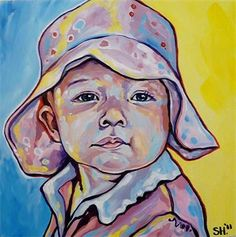 """Delaney"" 12x12"" acrylic on canvas"