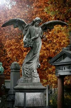 Angel Statue, Cemetary of Laeken, Brussels Cemetery Angels, Cemetery Statues, Cemetery Art, Angels Among Us, Angels And Demons, Old Cemeteries, Graveyards, Arte Obscura, I Believe In Angels