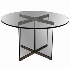 Smoked Glass U0026 Chrome Dining Table By Leon Rosen For Pace Collection 1