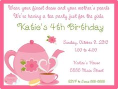 Girls Tea Party Birthday Idea