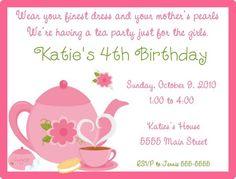 Girls Tea Party Birthday Idea