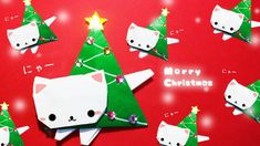 #折り紙 #origami #ねこ #cat #Christmas クリスマス #Christmastree #クリスマスツリー【折り紙】クリスマスツリーの作り方(にゃんこツリー)origami Christmastree cat|mama life blog Christmas Origami, Christmas Cats, Winter Christmas, Xmas, Diy Paper, Paper Crafts, Diy Crafts, Gato Origami, Japanese Origami