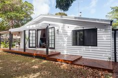 The Hilton Fibro Cottage Renovation - House Nerd Cottage Renovation, Home Renovation, Beach Shack, House In The Woods, Cladding, Tiny House, Beach House, House Plans, Shed