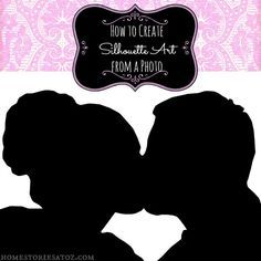 How to create silhouette art with any photo. Easy step by step tutorial. Great for creating your own cards!