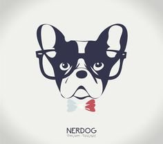 Nerdog - Awesome French Bulldog. Pop art