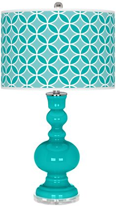 Turquoise Circle Rings Apothecary Table Lamp - Lamps Plus