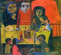 La navidad de Juanito Laguna (1961), de Antonio Berni Social Realism, Art Station, Jackson Pollock, Naive Art, Outsider Art, Artist Art, Traditional Art, American Art, Printmaking