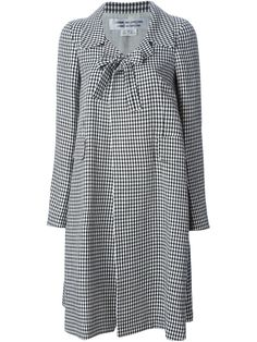 72eb7158420c 21 Gingham-check shirtdress (490 CAD) ❤ liked on Polyvore featuring dresses,  orange white, drop waist dress, button front dress, oran…