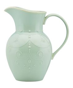 Look at this Ice Blue French Perle Large Pitcher on #zulily today!