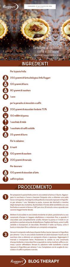 Ricetta per tartelle al cioccolato, caffè e zabaione, con farina biologica Arifa Ruggeri. www.ruggerishop.it www.arifa.it http://caramelalafleurdesel.blogspot.it