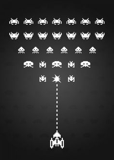 Stunning artworks from Space Invaders collection. Check out 12 posters in the collection. Our Displate metal prints will make your walls awesome. Space Invaders, Videogames, Minimalist, Characters, Posters, Medium, Metal, Classic, Artist