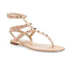 Women's Valentino Garavani 'Rockstud' Sandal (258.630 HUF) ❤ liked on  Polyvore featuring