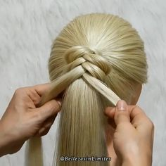 braided ponytail These easily done braids are a life saver! Easy Hairstyles For Long Hair, Braided Hairstyles Tutorials, Braids For Long Hair, Diy Hairstyles, Hairstyle Ideas, Party Hairstyle, Curly Hair, Hair Ponytail, Braided Ponytail Hairstyles