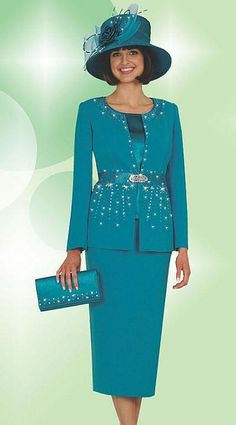 Plus Size Church Suits   Fifth Sunday by Ben Marc Womens 3pc Church Suit 52537 image