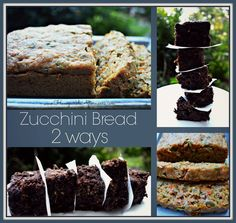 It's the bee's knees! Zucchini Bread- Two Ways.   Dark chocolate or Carrot Pumpkin Seed.  honeysuckleafternoons.com