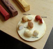 Variety of Tiny Potatoes by fairchildart