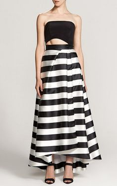 Thick Stripe Wrap Ball Skirt by NICHOLAS for Preorder on Moda Operandi