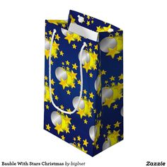 #Bauble With #Stars #Christmas #Small #Gift #Bag