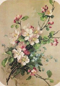 Catherine Klein a peint plus de 2000 cartes , ornements de calendrier, et tableau, sans jamais avoir été reconnue comme une véritable artis...
