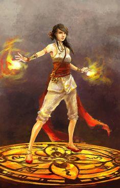 fire caster by *chibi-oneechan on deviantART
