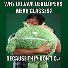 Java v/s C#. See Sharp.... :p