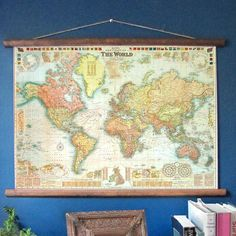 """Beautiful world map with """"flags of all nations"""""""