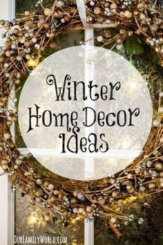 Turn your home into a stunning winter wonderland with these gorgeous winter home decor and organization ideas!