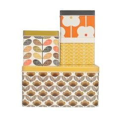 Orla Kiely-  Set of 4 Biscuit and Cracker Tins Multi