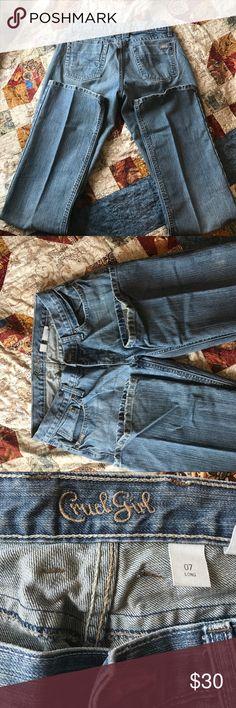Cruel Girl Jeans Cruel Girl Erika Jeans- worn very little, boot cut. Cute back pocket detail. Size: 7  Lenght: L (34). Open to reasonable offers! Cruel Girl Jeans Boot Cut