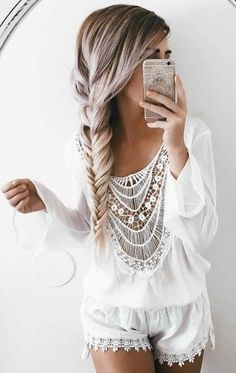 Hair & outfit inspo <3 Ash Blonde Luxy Hair Extensions worn by @emilyrosehannon xoxo