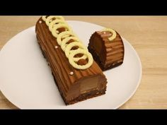 BÛCHE AU CHOCOLAT PRALINÉ  FACILE (CUISINERAPIDE) - YouTube