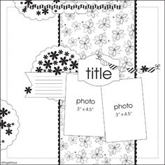 Rhinestones and Ribbon: Pebbles Sketch Layout- Never Grow Up