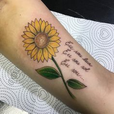 Check out an amazing selection with sunflower tattoo of beautiful models to inspire and select a design with your tattoo artist today. Sunflower Tattoo Simple, Sunflower Tattoo Sleeve, Sunflower Tattoo Shoulder, Sunflower Tattoos, Sunflower Tattoo Design, Shoulder Tattoo, Small Sister Tattoos, Small Flower Tattoos, Small Tattoos