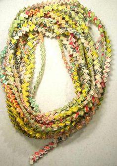 gum wrapper chains.