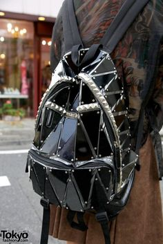 Goth oriented armored back-pack