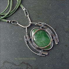 Ожерелье с нефритом - Strukova Elena - авторские украшения