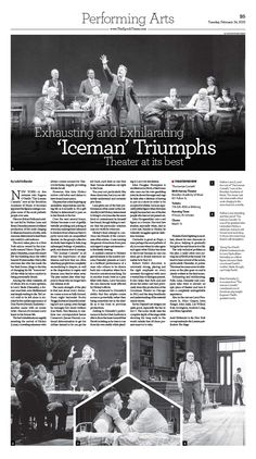 Theater Review: 'The Iceman Cometh'  #newspaper #editorialdesign #layout