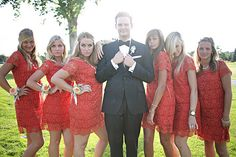 Life in Technicolor: Wedding Pictures Day Bridesmaids, Groomsmen, and Flower Girls Bridesmaid Pictures, Wedding Pictures, Bridesmaid Dresses, Bridesmaids, Wedding Dresses, Wedding Poses, Wedding Shoot, Dream Wedding, Wedding Day