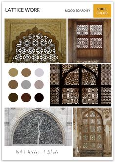 A criss-cross pattern of metal, wood or cement strips, latticework is popular in the Indian subcontinent, specifically under the Mughal rule. Cross Patterns, 16th Century, Cement, Criss Cross, Culture, Indian, Popular, Metal, Wood
