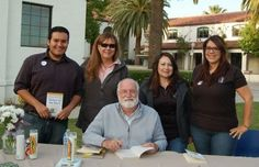 Father Gregory Boyle with the One Book One Azusa team.   #OBOA #azusacitylibrary #azusa