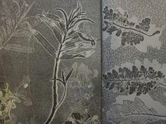 Imprint from plant material. Textile Prints, Art Prints, Printmaking Ideas, Cyanotype, Printed Matter, Nature Prints, Art Inspo, Trees, Leaves