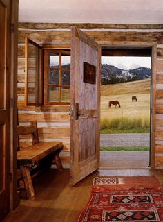 Simple log home design & quiet surroundings, the real charm of a Log Home . . . put it in the Adirondacks & your all set!