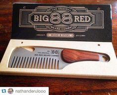 """260 Likes, 15 Comments - Big Red Beard Combs (@bigredbeardcombs) on Instagram: """"Finally starting to catch up with the backlog of our new Stainless Steel and Rosewood No.88 combs.…"""""""